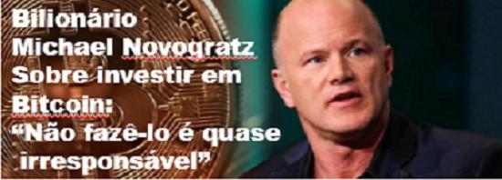 bilionário Michael Novogratz entrevista a CNN sobre investi em bitcoin não fazê-lo é quase irresponsável